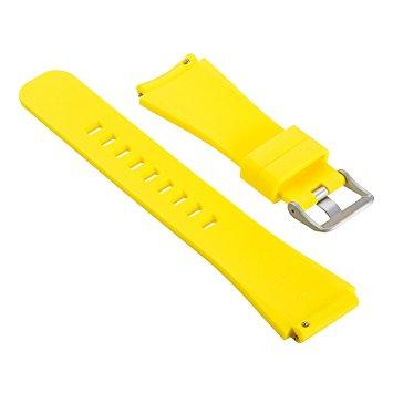 Силиконовый ремешок для Samsung Gear S3 желтый