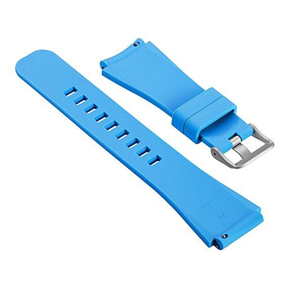 Силиконовый ремешок для Samsung Gear S3 голубой