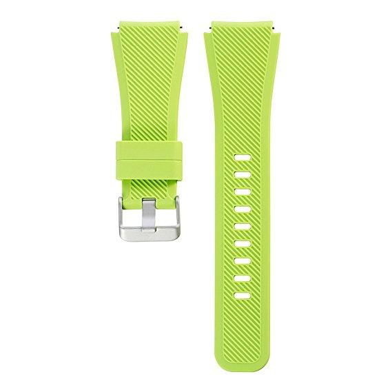 Силиконовый ремешок для Samsung Gear S3 зеленый
