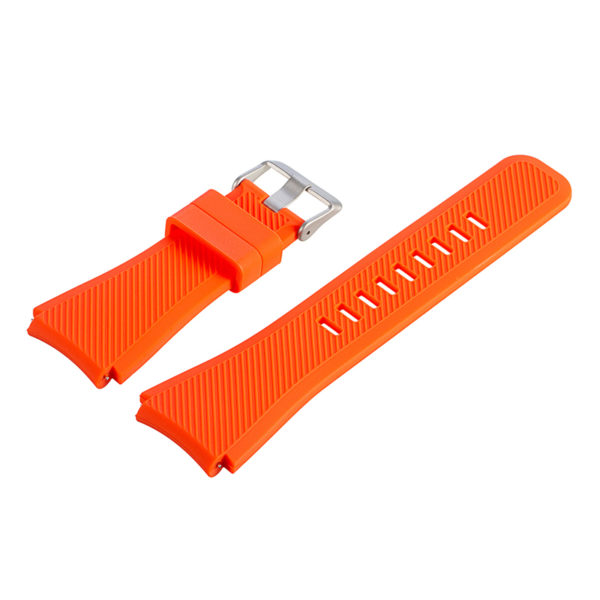 Силиконовый ремешок для Samsung Gear S3 оранжевый