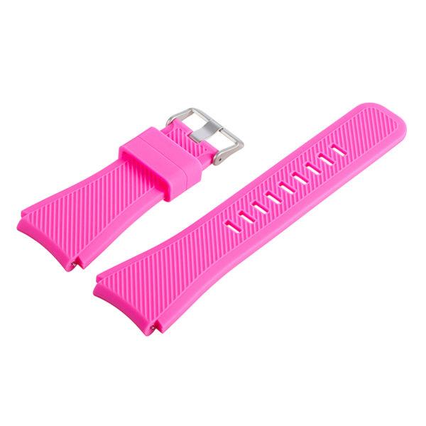 Силиконовый ремешок для Samsung Gear S3 розовый