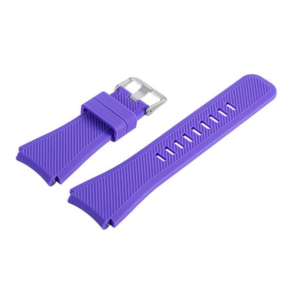 Силиконовый ремешок для Samsung Gear S3 фиолетовый