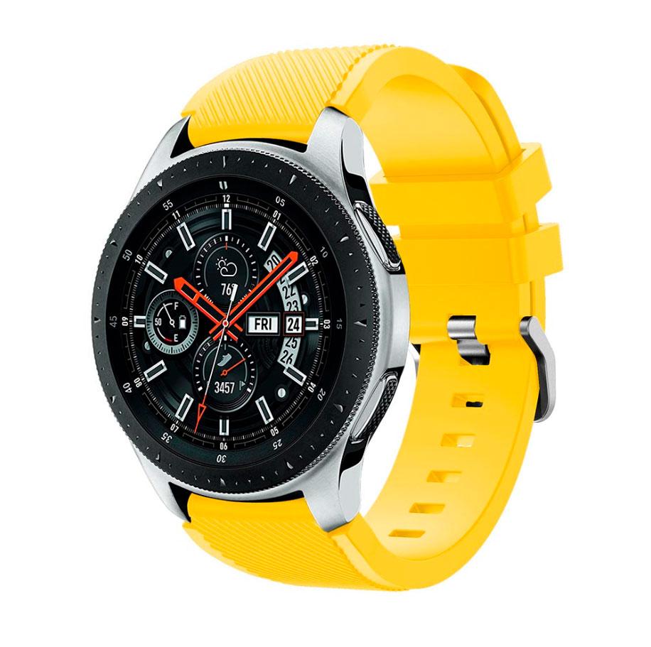 Силиконовый ремешок для Samsung Gear S3 / Samsung Galaxy Watch 46mm желтый