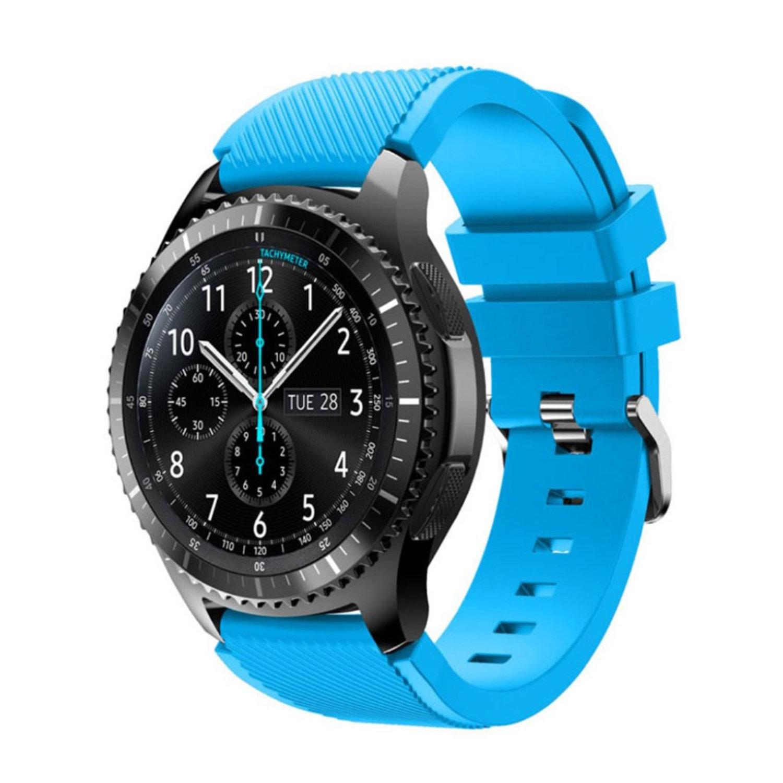 Силиконовый ремешок для Samsung Gear S3 / Samsung Galaxy Watch 46mm голубой
