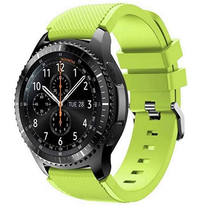 Силиконовый ремешок для Samsung Gear S3 / Samsung Galaxy Watch 46mm зеленый