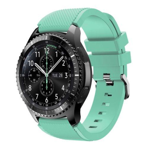 Силиконовый ремешок для Samsung Gear S3 / Samsung Galaxy Watch 46mm бирюзовый