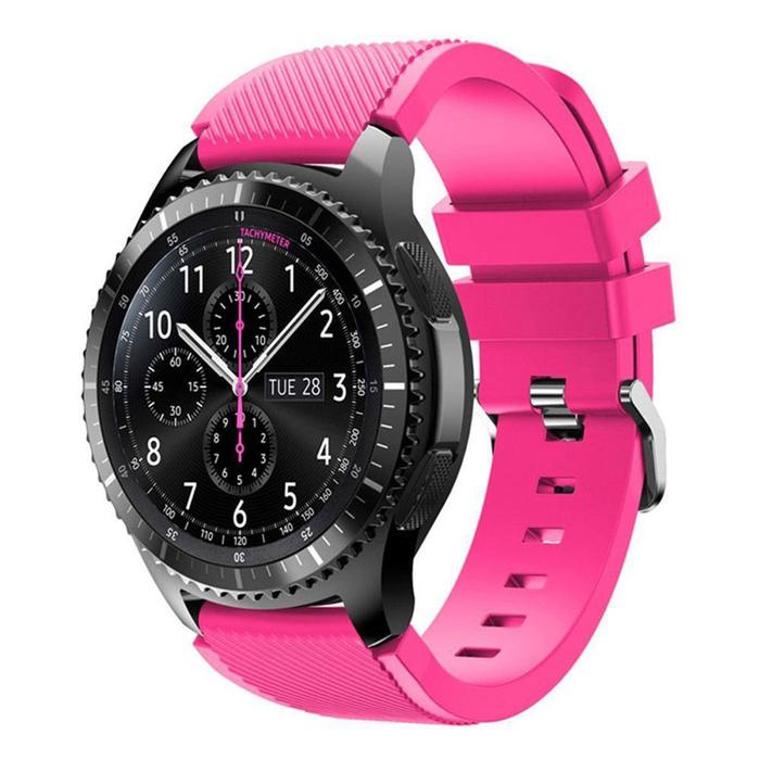 Силиконовый ремешок для Samsung Gear S3 / Samsung Galaxy Watch 46mm розовый