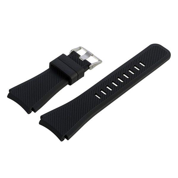 Силиконовый ремешок для Samsung Gear S3 черный
