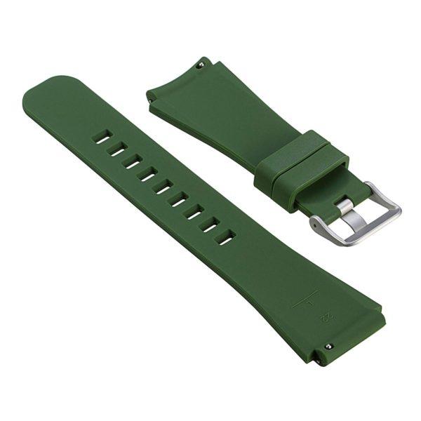 Силиконовый ремешок для Samsung Gear S3 тёмно зеленый