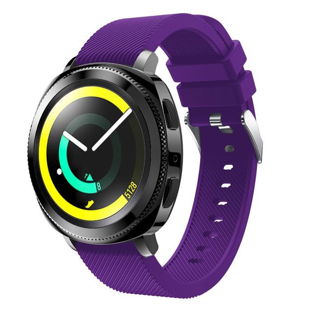 Силиконовый ремешок для Samsung Gear Sport / Samsung Galaxy Watch 42mm фиолетовый