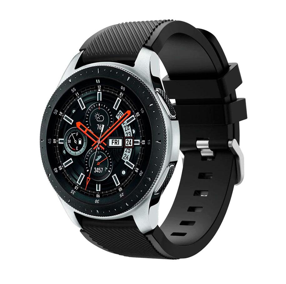 Силиконовый ремешок для Samsung Gear S3 / Samsung Galaxy Watch 46mm черный