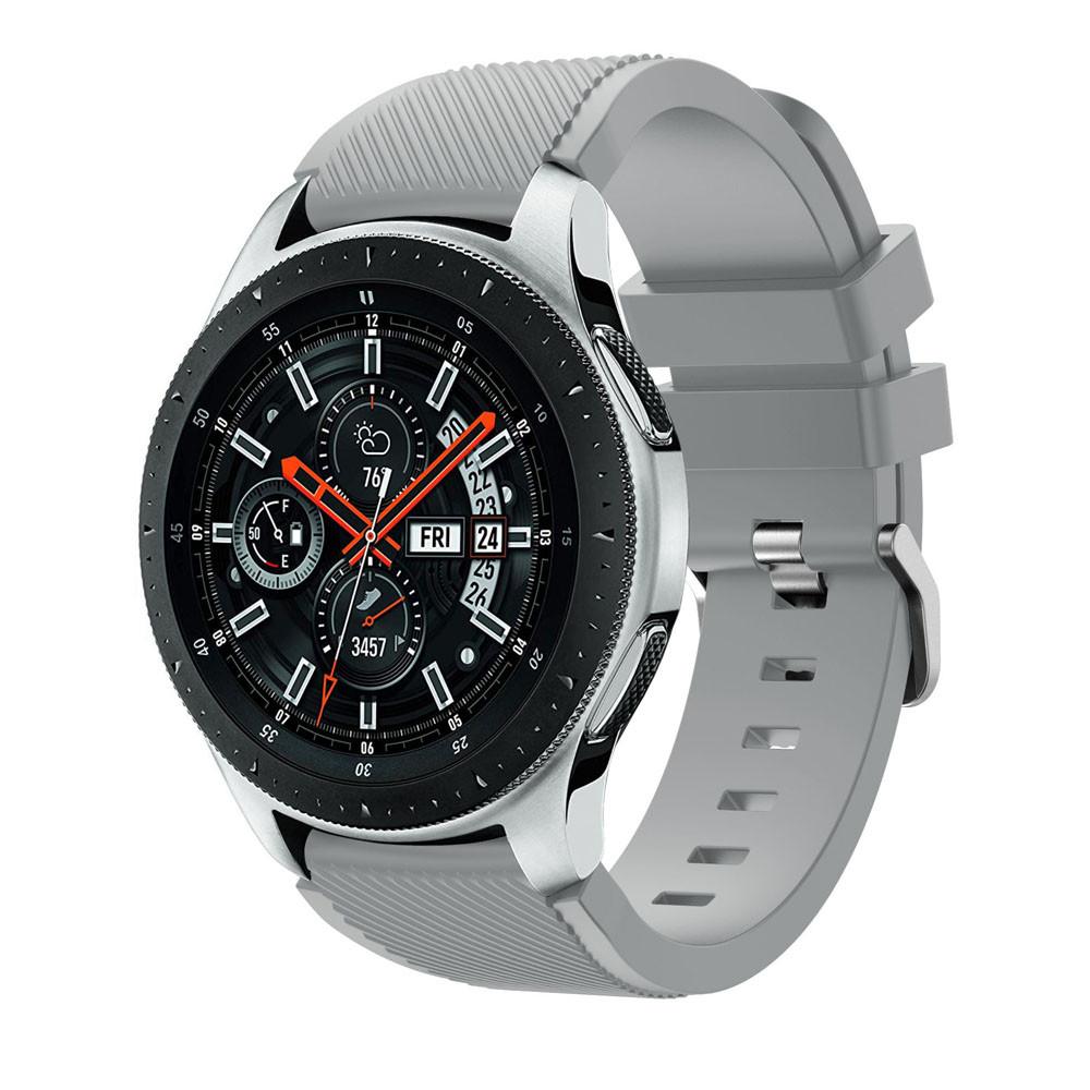 Силиконовый ремешок для Samsung Gear S3 / Samsung Galaxy Watch 46mm серый