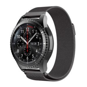 Металлический ремешок Milanese Loop для Samsung Gear S3 черный