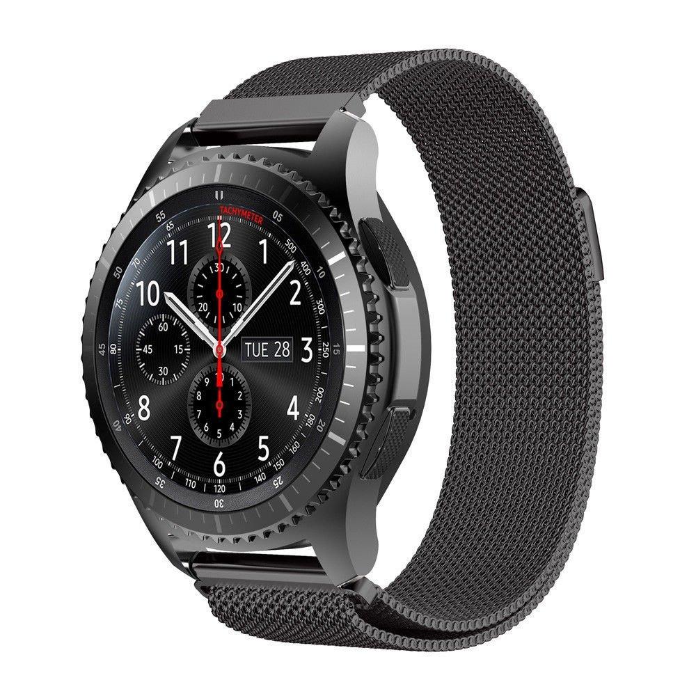 Металлический ремешок Milanese Loop для Samsung Gear S3 / Samsung Galaxy Watch 46mm черный