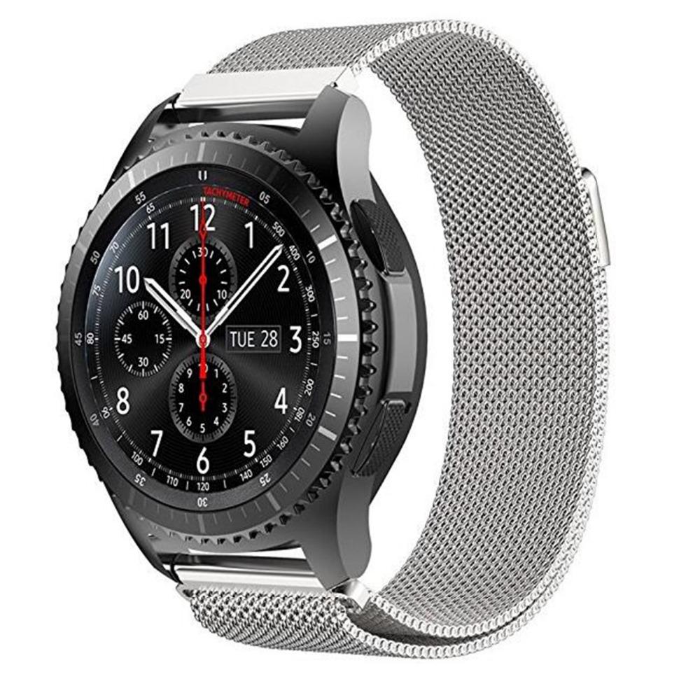 Металлический ремешок Milanese Loop для Samsung Gear S3 / Samsung Galaxy Watch 46mm серый