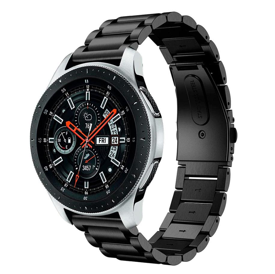 Металлический ремешок Stainless Premium для Samsung Gear S3 / Samsung Galaxy Watch 46mm черный