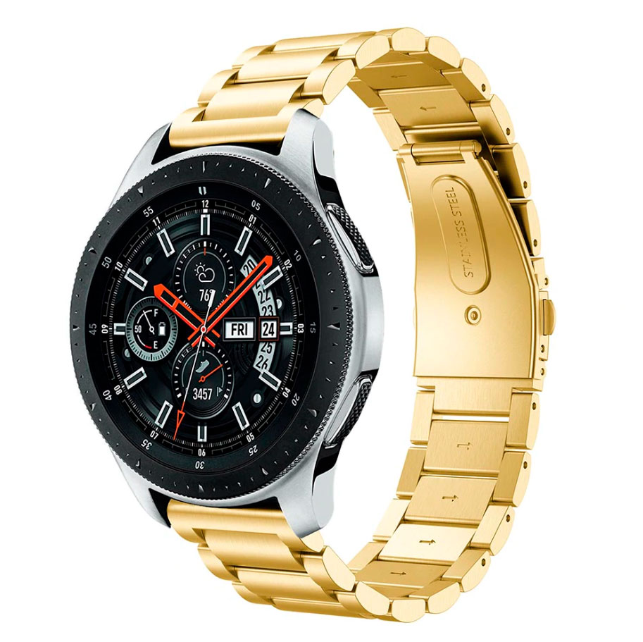 Металлический ремешок Stainless Premium для Samsung Gear S3 / Samsung Galaxy Watch 46mm золотой