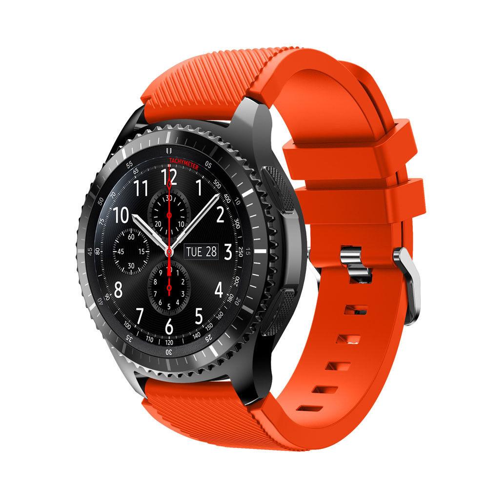 Силиконовый ремешок для Samsung Gear S3 / Samsung Galaxy Watch 46mm оранжевый