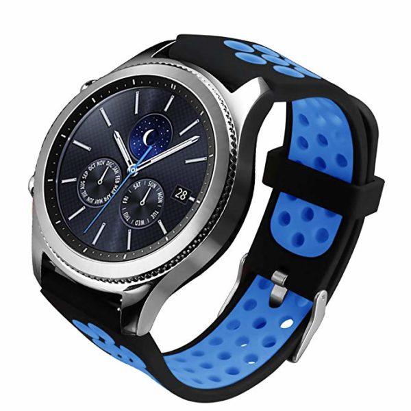 Силиконовый перфорированный ремешок для Samsung Gear S3 синий