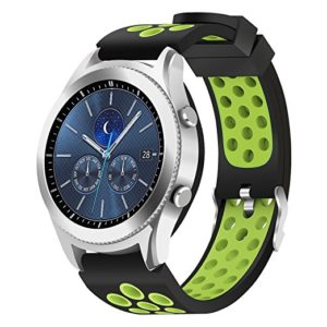 Силиконовый перфорированный ремешок для Samsung Gear S3 зеленый