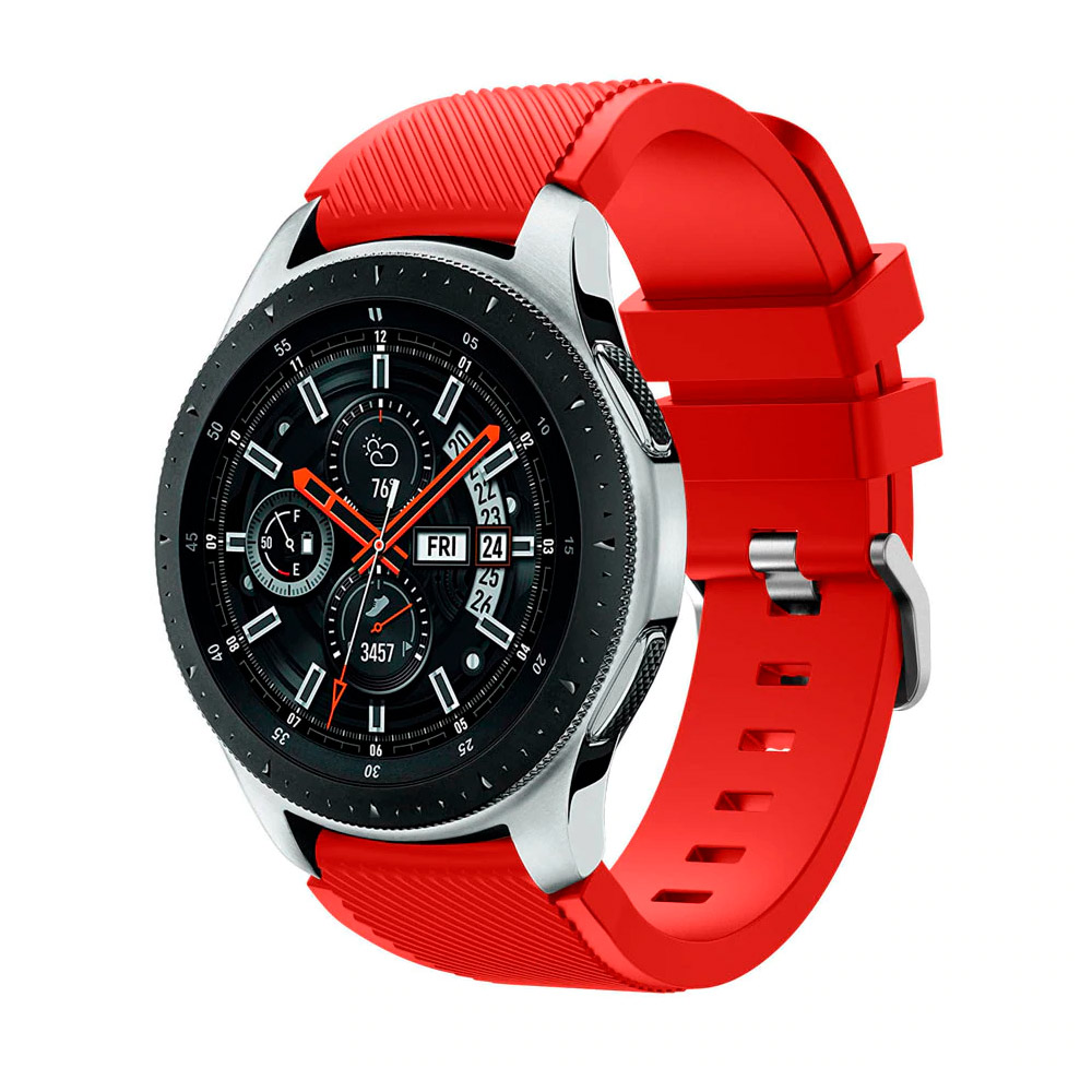 Силиконовый ремешок для Samsung Gear S3 / Samsung Galaxy Watch 46mm красный