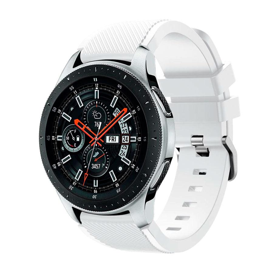 Силиконовый ремешок для Samsung Gear S3 / Samsung Galaxy Watch 46mm белый