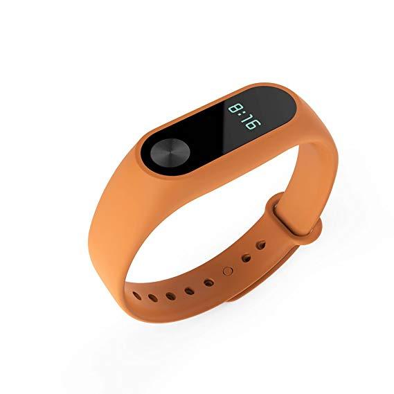 Силиконовый ремешок usual для Xiaomi Mi Band 2 оранжевый