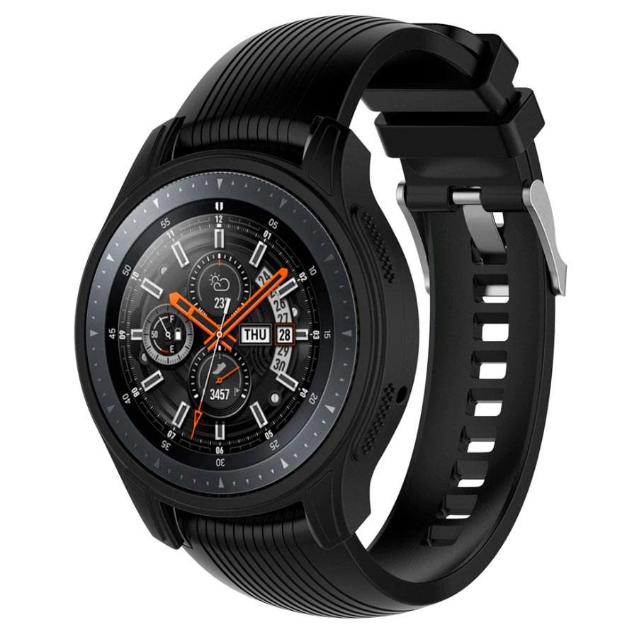 Силиконовый чехол для Samsung Gear S3 / Samsung Galaxy Watch 46mm - черный