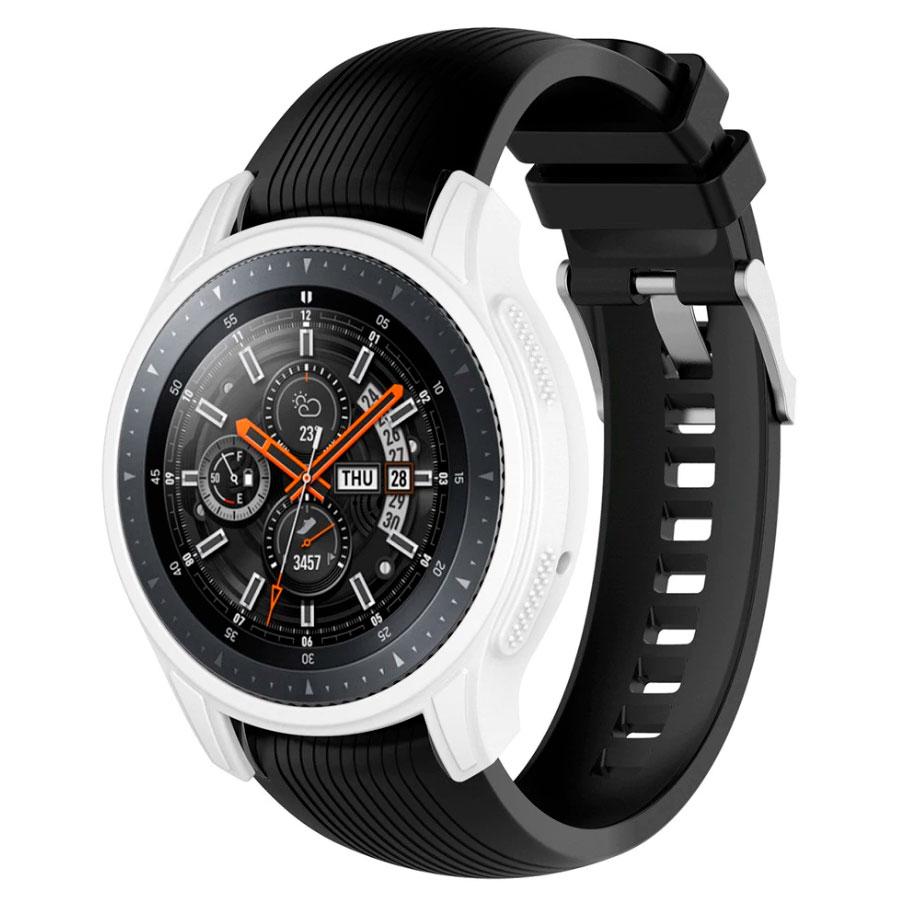 Силиконовый чехол для Samsung Gear S3 / Samsung Galaxy Watch 46mm - белый
