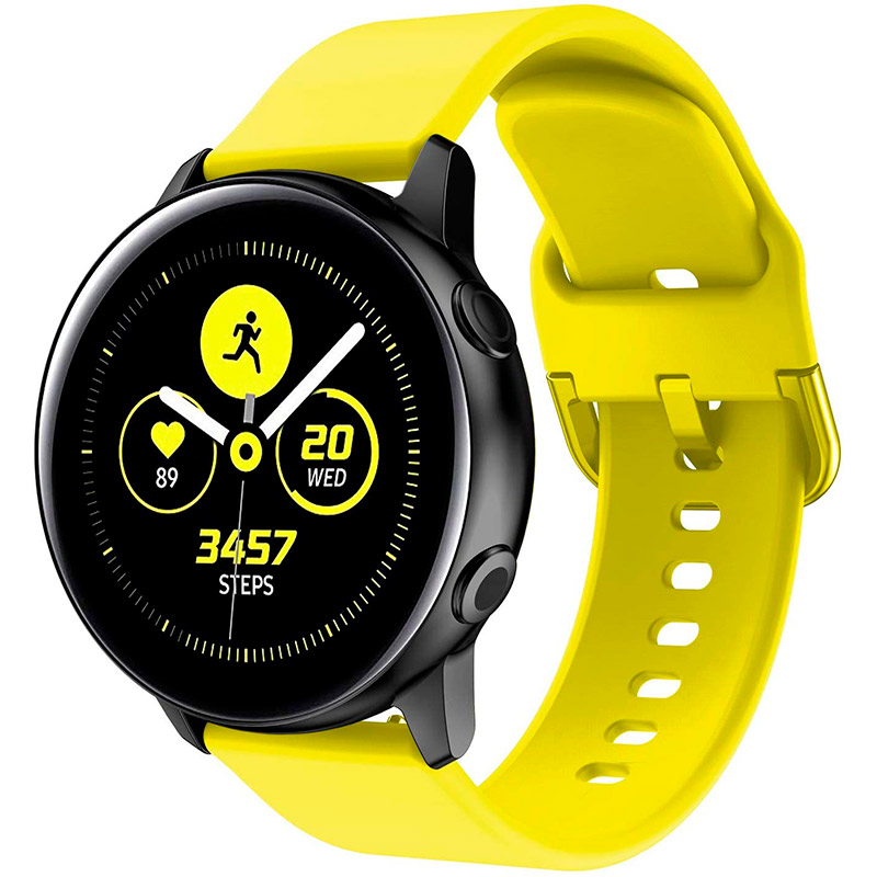 Силиконовый ремешок One для Samsung Galaxy Watch Active (1,2) / Samsung Galaxy Watch 42mm желтый