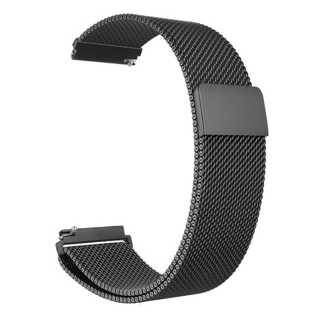 Металлический ремешок Milanese Loop для Samsung Galaxy Watch 3 45mm черный