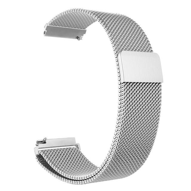 Металлический ремешок Milanese Loop для Samsung Galaxy Watch 3 45mm серый